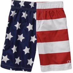 Boys American Flag Swim Trunks USA Board Shorts Swimsuit XS S M L XL XXL NEW #Op #SwimShorts