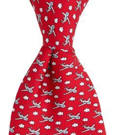 Men's Ties: Airplane Printed Silk Tie for Men – Vineyard Vines