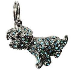 Pingente Vira Lata Azul São Pet - MeuAmigoPet.com.br #petshop #cachorro #cão #meuamigopet