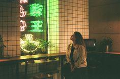 Mary Wong noodle bar. Film camera.