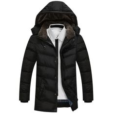 2017 Winter New Men's Jackets Thickening Winter Jackets Mens Cotton Down Coat  Men Warm Parkas Male thicked hooded coat