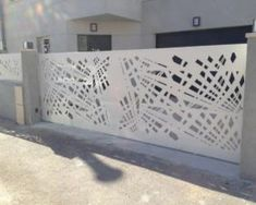 Mild Steel Laser Cut Gate and Fence House Main Gates Design, Grill Gate Design, Front Gate Design, Door Gate Design, Fence Design, Gate House, Facade House, Garden Wall Designs, Grey Interior Doors
