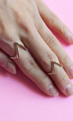 #PUBLIK                   #ring                     #STACKED #RING #KNUCKLE   STACKED V RING KNUCKLE SET                                                    http://www.seapai.com/product.aspx?PID=1092270