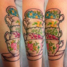 Teacup stack. They need to be full color tho