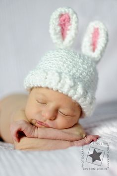 Easter baby hat  It wouldnt do if i had a baby now.. lol.. so cute