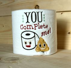 Give \'em a laugh | Toilet Paper | Pinterest | Embroidered toilet ...