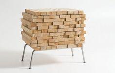 design de la commode Pile de bois par Boris Dennler
