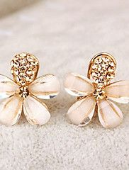 8856a70cfe8e   5.24  Women s Clip on Earring Rhinestone Earrings Flower Ladies Elegant  Jewelry Gold For Party Daily