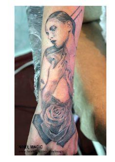 my work By #ninelmagic #geisha #rose #tattoostore #tattoo #тату #татуировка #ink