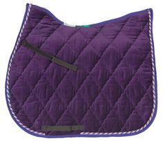 HiWither velvet saddlepad with braid (SP24 GP) - Griffin NuuMed