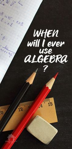 When Will I Ever Use Algebra? Pennington, math instructor at the Apologia Online Academy. She teaches Pre-Algebra, Algebra 1 Homeschool Science Curriculum, Homeschool Blogs, Homeschooling, Algebra 1, Calculus, Teaching Subtraction, Teaching Addition, Math Books, Math Help