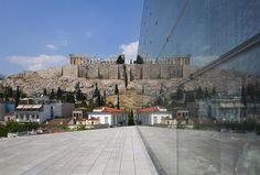 New Acropolis Museum,  Athens, Greece, Bernard Tschumi Architect (exterior with view to Parthenon)