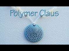 "Video: Sea sponge effect pendant (english sub titles 0 Another way to do ""organic"" #Polymer #Clay #Tutorials"
