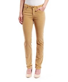 Look at this #zulilyfind! Bamboo Corduroy Mustang Sally Straight-Leg Jeans by LNO jeans #zulilyfinds