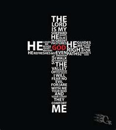 I love how they fit Psalm 23 in the cross.
