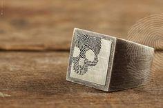 anel masculino QUO by QUO. Feito à mão em prata italiana 925. Com acabamento rustico (OXI) #exclusive