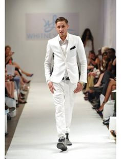 Mens Linen Suit in All White Linen Suits For Men, All White, Spring Summer 2016, Runway, Formal, Shopping, Style, Fashion, Cat Walk