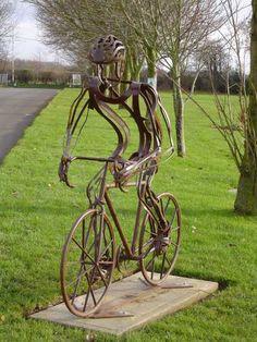 Sculpture: 'Iron Man