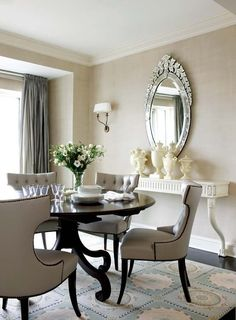 Dining Room in Neoclassic Boston Apartment