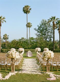 I like the pillars with white/blush florals.