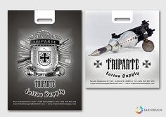 Triparte Tattoo Supply Design Grafico Embalagens ___ Graphic Design Packages Tattoo Supply, Packaging, Graphic Design, Wrapping, Visual Communication