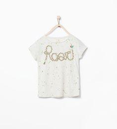 "Image 1 of ""Roar"" print T-shirt from Zara"