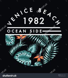 Venice beach illustration for t-shirt and other uses.