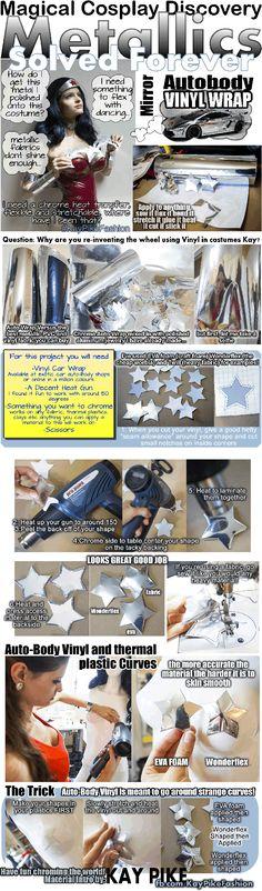 Use autobody vinyl wraps for metallics