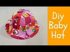 Diy baby hat | lovely baby hat sewing project | 戴上这种花帽,太可爱了吧!!!❤❤ - YouTube Baby Sun Hat, Baby Beanie Hats, Diy Baby Headbands, Fleece Hats, Baby Mittens, Diy Hat, Kids Hats, Diy For Girls, Baby Sewing