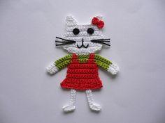 Crochet Girls Dress Pattern, Crochet Applique Patterns Free, Crochet Flower Patterns, Crochet Motif, Crochet Designs, Crochet Flowers, Giraffe Crochet, Crochet Dinosaur, Crochet Octopus
