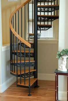 Choose your DIY or custom-made steel spiral stairs and beautify your home with our great steel spiral staircase kits and bespoke design options. Staircase Outdoor, Small Staircase, Tiny House Stairs, Loft Stairs, Spiral Staircases, Bed Stairs, Rustic Staircase, Spiral Stairs Design, Staircase Design