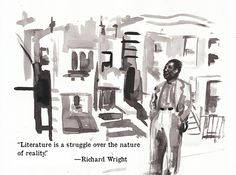 Chicago Literary Hall of Fame Greeting Cards - Richard Wright