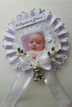 LAVENDAR BABY PHOTO ROSETTE (WAND) - Connie-s lille verden