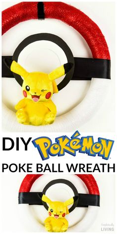 DiY Pokemon Pokeball wreath tutorial | How to make Pokemon decorations for a party or just fun decor