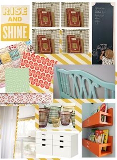 Holy crap!! This is totally going to be Lilli's big girl room inspiration board! The colors are a PERFECT match for what's going on in her nursery right now! LOVE IT!!