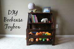 Child-sized Bookshelf Toybox Combo (DIY)