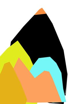 Abstract Art Print by Ashley G - of mountains