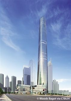 Chongqing 101 Mansion T1, Chongqing-China,  371.2 m, proposed-2015, architect- Woods Bagot; Shanghai East China Architecture Design and Research Institute Co., LTD