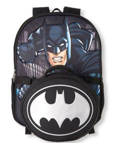 New Boys Black Batman The Dark Knight School Backpack  amp  Lunch Box Set   Unbranded 684364030a90d