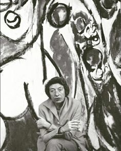 Artist Lee Krasner (American: 1908-1984), partner of Pollock