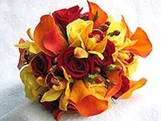 rose and callas bridal bouquet