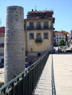 Milestone at the bridge of Aquae Flaviae (Chaves)