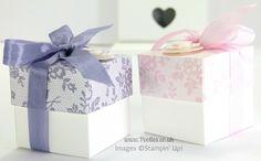 Stampin' Up! UK Demonstrator Pootles - 2 (5cm) Cube Box Tutorial using Stampin' Up! UK I Love Lace