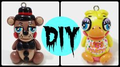 Kawaii Polymer Clay Charms | Five Nights at Freddy's (Toy Chica + Toy Fr...