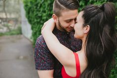 Champagne Showers Engagement Session with Mango Studios