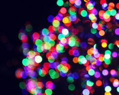 Abstract Bokeh Photograph color rainbow by AmeliaKayPhotography