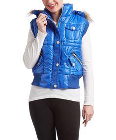 Royal Faux Fur Trim Hooded Vest