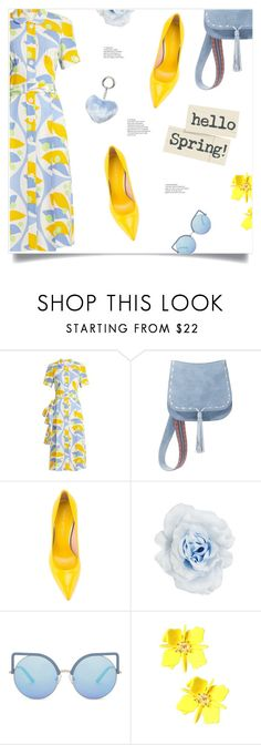 """""""Hello Spring!"""" by loloksage ❤ liked on Polyvore featuring Miu Miu, Steve Madden, Stuart Weitzman, Collectif, Matthew Williamson and Dorothy Perkins"""