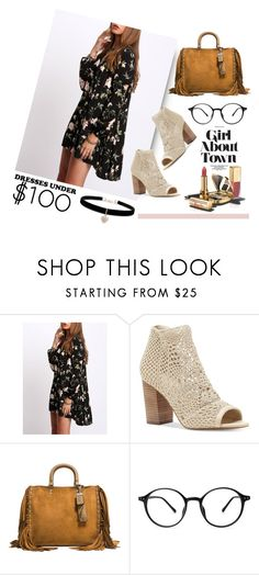"""""""Printed dress"""" by yara-mikhael-deeb on Polyvore featuring Jessica Simpson, Coach 1941, Dolce&Gabbana and Betsey Johnson"""