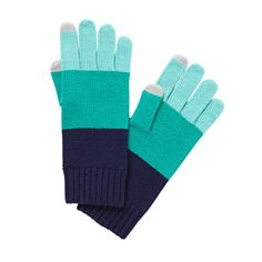 color blocked touchscreen friendly gloves